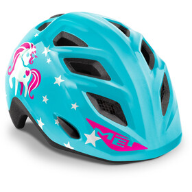 MET Genio Helmet Kids, blue unicorn glossy
